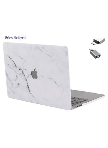 """Mcstorey Yeni MacBook Pro Type-c A1706 A1708 A1989 A2159 13"""" Kılıf Kapak Koruma  Mermer 11-40-1416 Renksiz"""